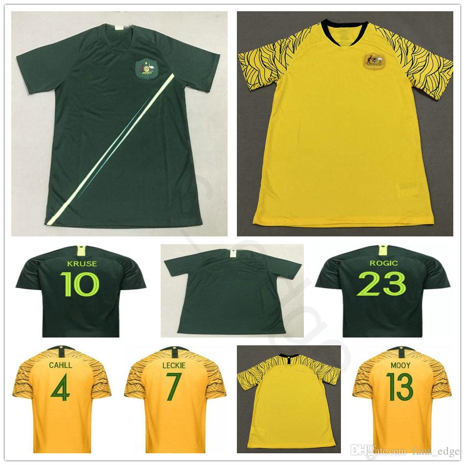 7a8967bfe 2018 World Cup National Team Australia Soccer Jerseys Customized  Personalized Any Name Home Green Yellow Custom Football Shirts Uniforms