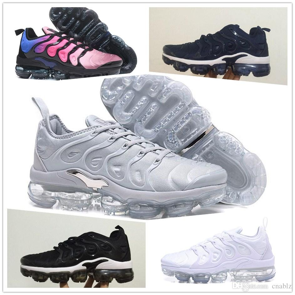 Hot Vapormax TN Plus Men Basketball Shoes Olive In Metallic White Silver Colorways Men Shoes For Running Male ShoeTriple Black TRIPLE WHITE
