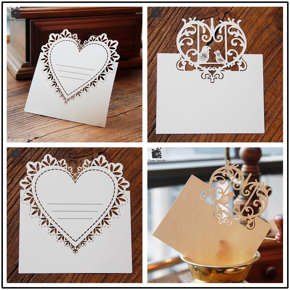 Blank Postcards Birthday Cards With Envelope Thank You 3D Laser Cut Wedding Invitation RSVP Small Love Message Give A Gift Card Online Giftcards