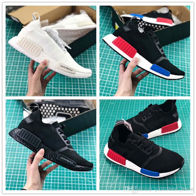 51ef4f3fd8fe1 2018 New Original Quality R1 PK Running Shoes for Men Women Chaussures  Triple Black White Red Blue Trainers Designer Brand Sneakers 36-45 R1 PK  Sneakers ...