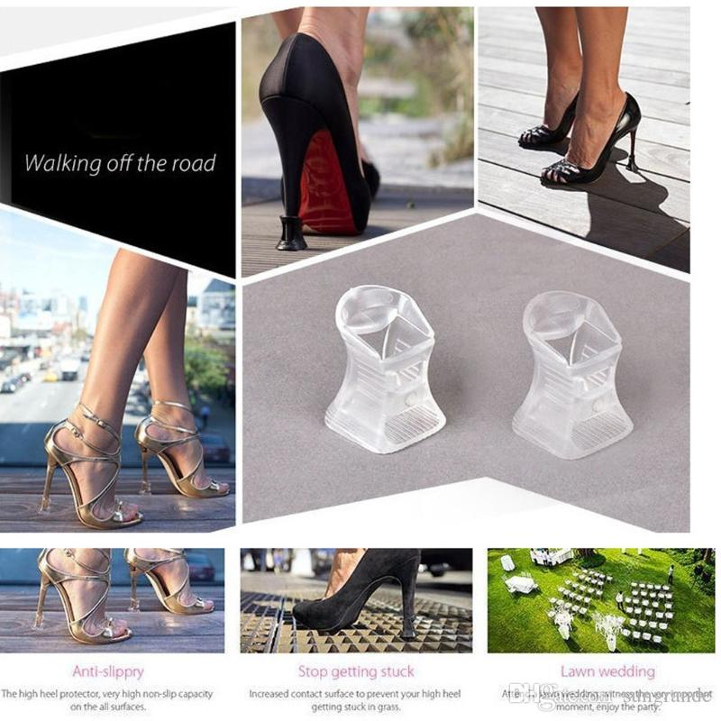 6ce89bd5950 High Heel Stopper Black And Transparent Shoes Heel Protectors Covers S + M  + L Heel