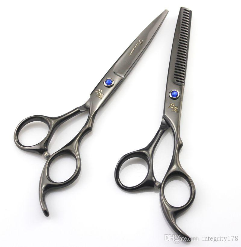 knife magic 6.0 inch /5.5 Inch Professional Cutting /Thinning Scissors Hair Scissors for Barbers Right Shears