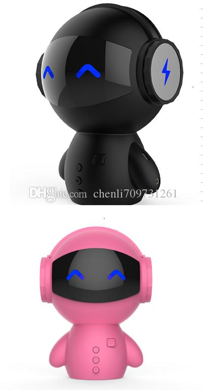 Portable Cartoon Robot Mini Bluetooth Speakers Bluetooth Wireless Creative Receiver Speaker Stereo Music Player for Party, Beach,Camping
