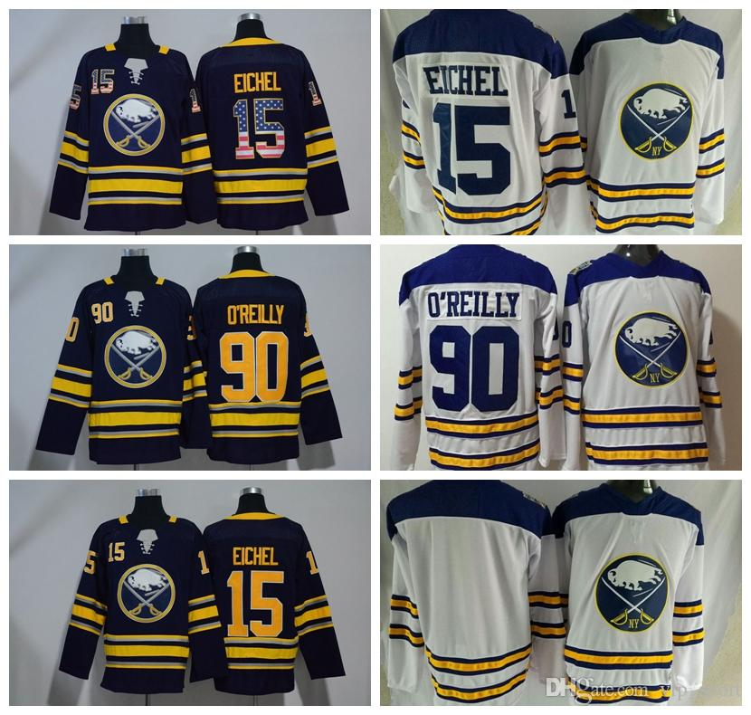 2019 2018 Hockey USA Flag 15 Jack Eichel Jersey Men Buffalo Sabres 90 Ryan  O Reilly Jerseys OReilly Navy Blue White Uniforms Blank Stitched From  Vip sport ca7bf8a74