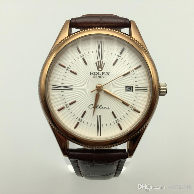 67195ee999d Compre Relógios Homens Marca De Luxo Venda Quente Famoso Homem Relógio De  Couro AAA Moda Quartz Relógio Dos Homens De Luxo De Alta Qualidade Relogio  ...