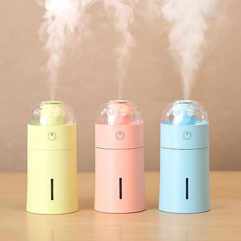 Home Appliances Hot Sale Mini Purifying Air Humidifier Usb Lamp Led Portable Light Usb Night Light Led Energy Saving Small Table Usb Humidifier Lamp Fast Color Home Appliance Parts