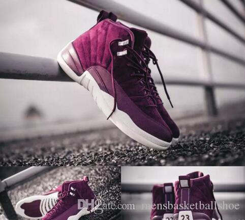 683fb4100ce1a6 Cheap 12 Bordeaux Wine Red Basketball Shoes Men Sport Shoes Bordeaux ...