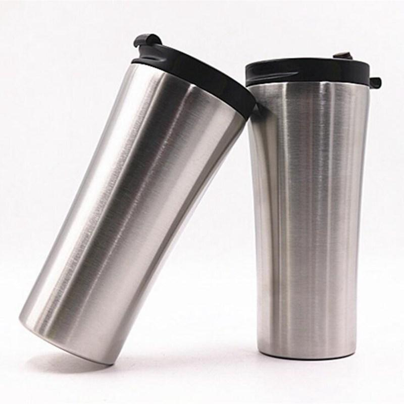 Coffee Color Water Insulated 17oz500ml Steel Wall Mug Travel Double Bottles Flask Without Tumbler Office Stainless Vacuum kZiOPXu