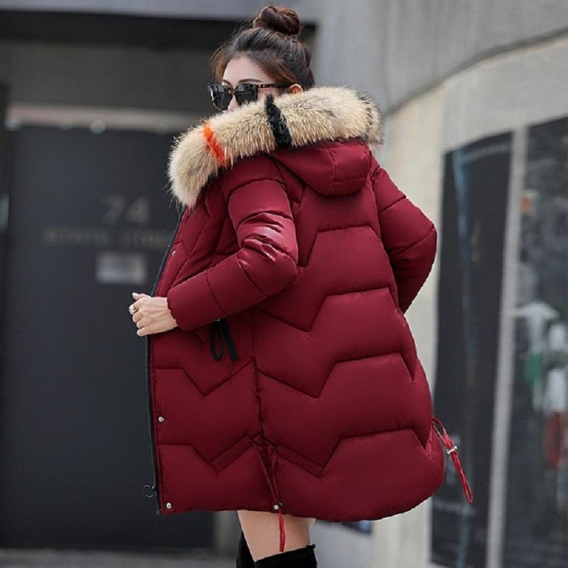 21f1ff377c5e Acheter Nouveau 2018 Top Qualité Femmes Parkas Très Chaud Chapeaux De Laine Femmes  Manteau D hiver Fausse Fourrure À Capuche Veste D hiver Femmes Épaissir ...