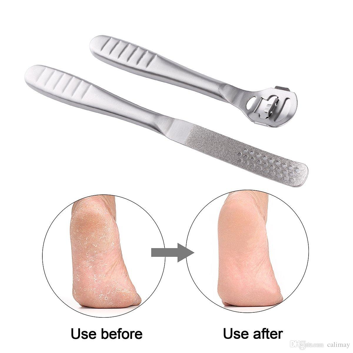 Stainless Steel Callus Shaver Callus Remover File Refill Dead Hard Skin Remove Foot Care Pedicure Tools Set with 10 Blades