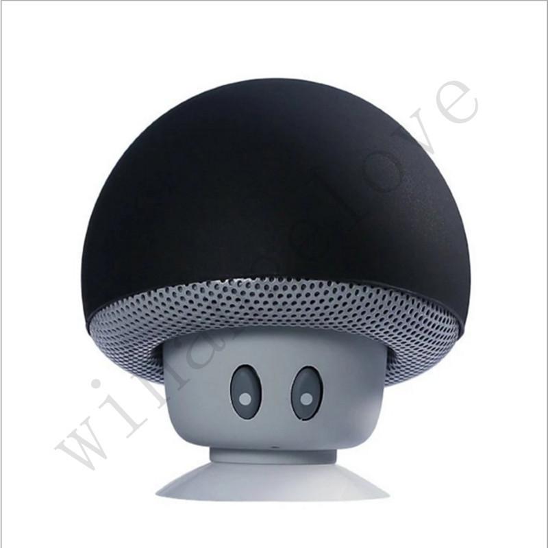 Mini Wireless Bluetooth Lautsprecher Lebensechte Cartoon Pilzkopf mit Saugen Disk Bracket HQ Sound Bluetooth Kompatibel mit Handy, iPhone