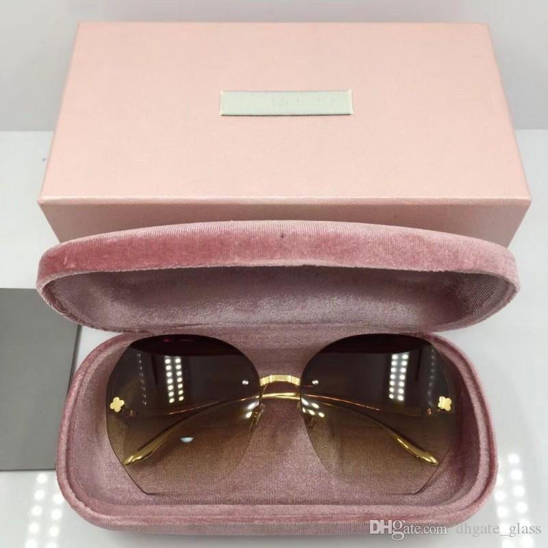 477869e4801a1 Compre Designer De Luxo Das Mulheres Da Marca Óculos De Sol 5 Cores De  Nylon Lentes De Óculos De Armação De Óculos Oval Sem Moldura Óculos De  Armação De ...