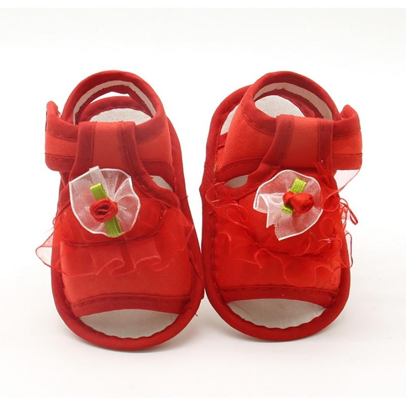 Newborn Baby Girls Shoes Summer Girls Sandals Flowers Lace Soft Shoes  Birthday Wedding Baby Sandals Canada 2019 From Laurul