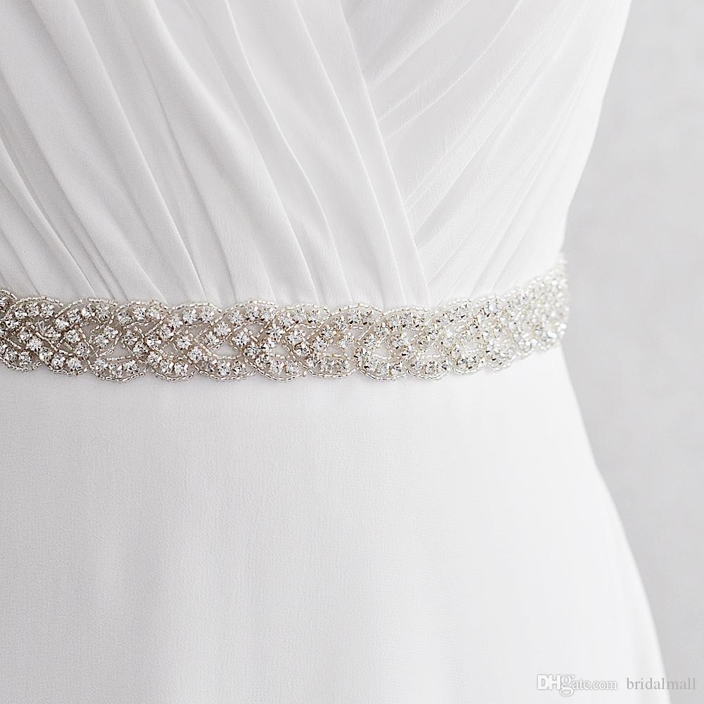 In Stock rhinestone wedding sash 2.5cm Width 45cm Length crystal Beaded For Wedding Dress Bridesmaid belt bridal sash Evening Prom Dresses