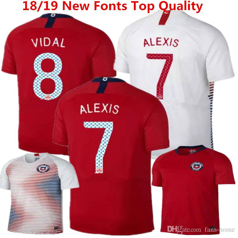 d08f4eb7939 2019 Soccer Jersey Chile Camisetas De Futbol 18 19 SANCHEZ VALDIVIA MEDEL  VIDAL Home Red Football Clothes ALEXIS America Shirts World Cup Uniform  From Fans ...
