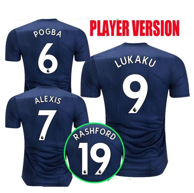 Player Version 2018 2019 ALEXIS LUKAKU POGBA MAN Soccer Jersey 18 19 ... a1a876941