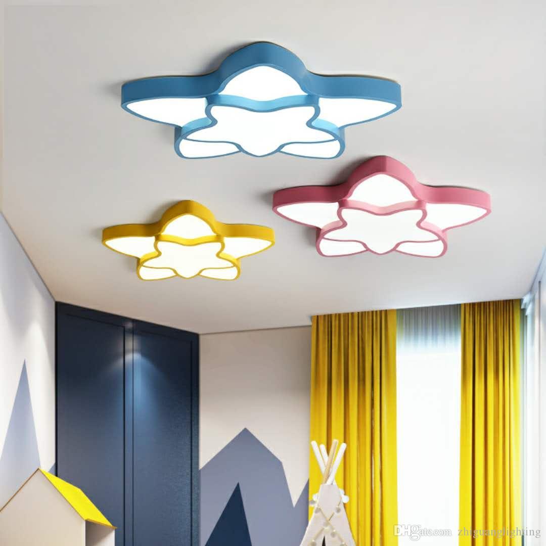 Kinderzimmer Schlafzimmer Lampe moderne minimalistische LED Deckenlampe  Junge Mädchen Zimmer Lampe warme romantische Sterne Lampen