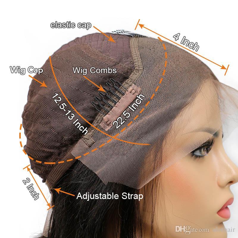 Parrucca anteriore del merletto dei capelli umani Parrucca naturale brasiliana dei capelli umani del merletto dei capelli di colore naturale 13 * 3 parrucche diritte anteriori del merletto le donne nere