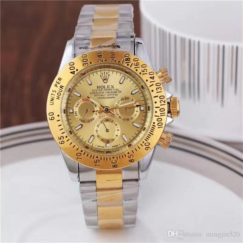 b06faa04fab Compre 2018 Relógios De Presente Homens Marcas De Luxo Relógio De Ouro  Automático Top Qualidade Data Mecânica Relógio De Negócios De Moda Relógio  Militar ...