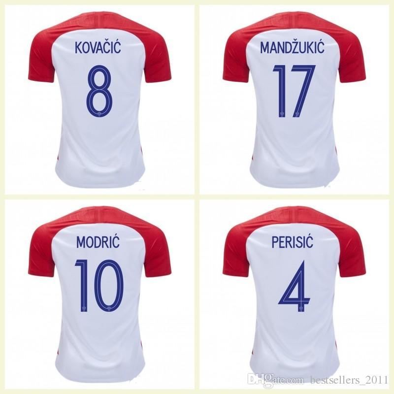 2170abe84 MODRIC Football Shirt World Cup PERISIC KALINIC RAKITIC KOVACIC ...