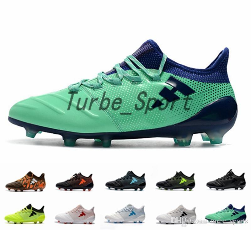 2019 2018 New X 17.1 FIRM GROUND FG CLEATS Hi Res Green Mens Soccer Shoe  Core Black Brown Camo White Outdoor Football Shoes Boots From Turbe sports e02eed26966f