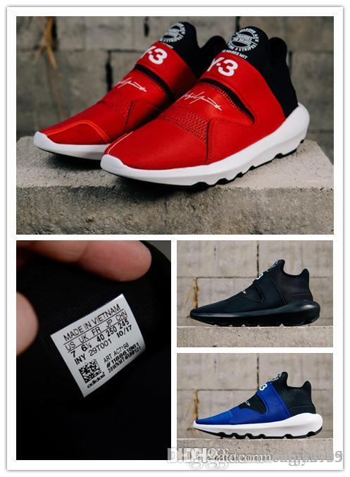 5dfe6e8c0c26 High Quality Y 3 Y3 Suberou Men Women Slip On Casual Shoes Black White Red  Blue Yohji Y3 Casual Sneakers Size 36 45 Loafers For Men Red Shoes From  Camy2999