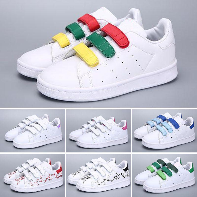 d4214f5a8 Compre Adidas Superstar 2018 New Brand Shell Boy Girls Sneakers Superstar Niños  Niños Zapatos Nuevos Stan Zapatos Moda Smith Sneakers Cuero Deporte ...