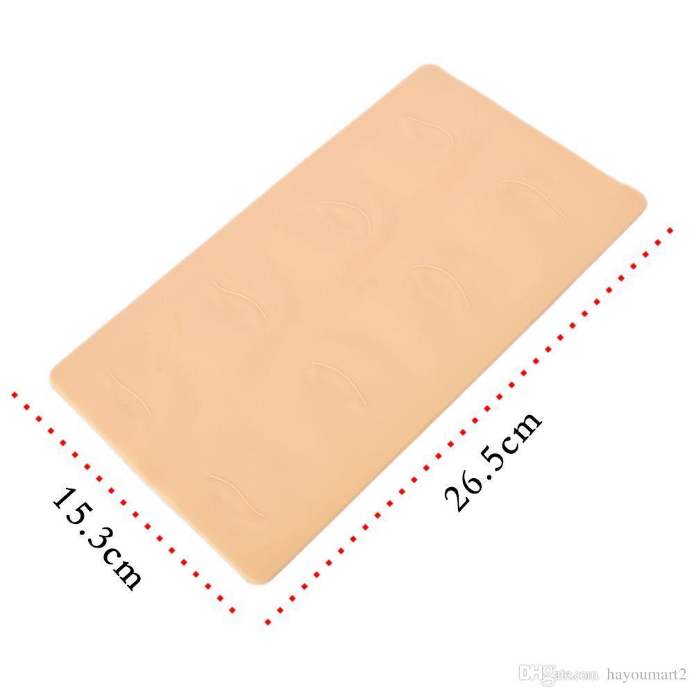 2 قطع 3d الممارسة الجلد الوشم الحاجب و الشفاه ماكياج دائم الجلد الوشم وهمية الجلد لإبرة آلة العرض
