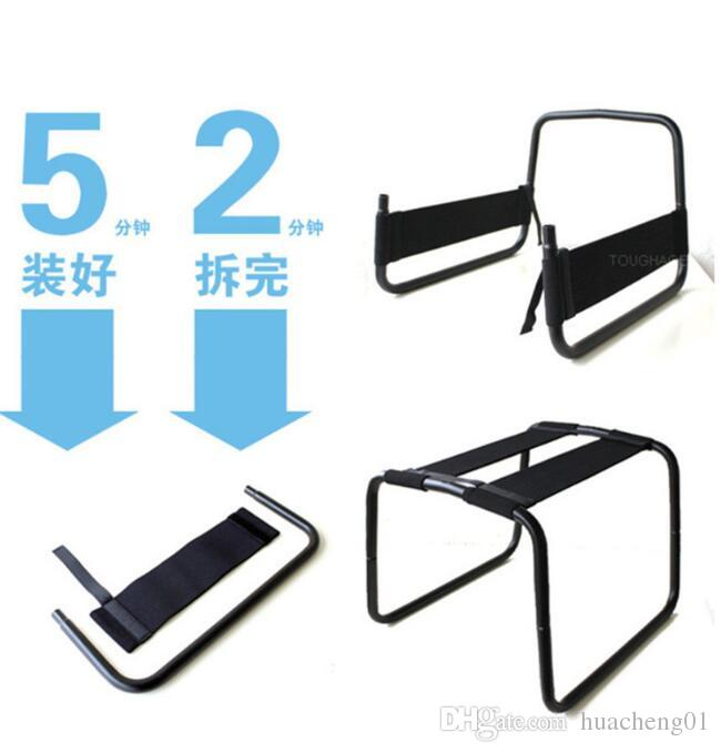 Toughage Sex Chair Decadence Bounce Swing Chair Metal Chair Bandage Product Stool Multifunction Sex Furniture Sex Toy for Couples