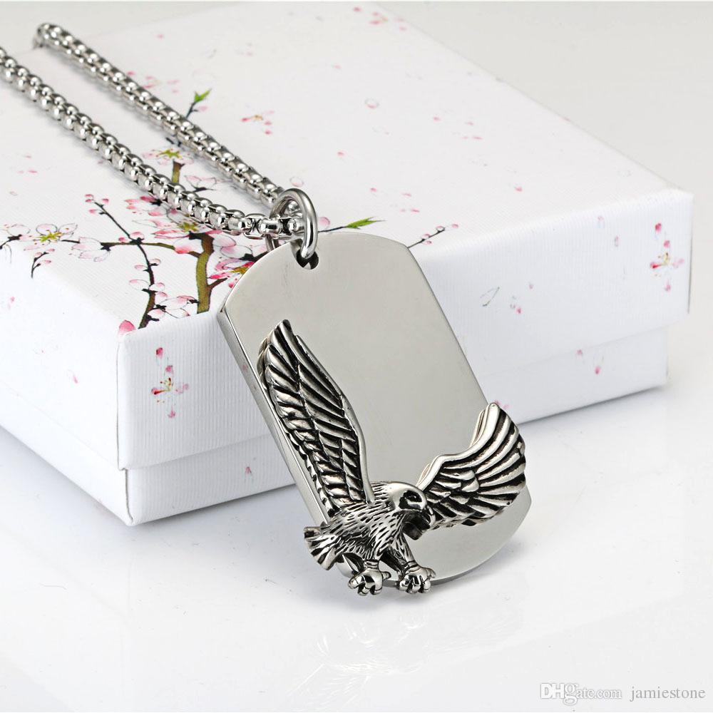 Ensemble de bijoux en acier inoxydable avec pendentif Eagle Flying Eagle