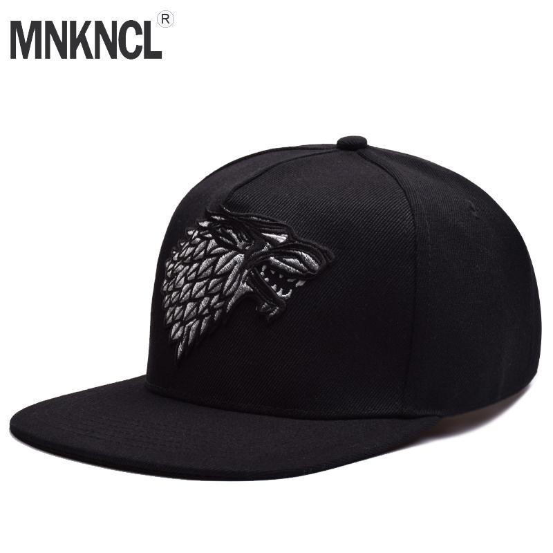 Wolf Hat Snapback Baseball Caps A Song Of Lce And Fire Winter Is Coming Hat  House Stark Winterfell Embroid Hats Flexfit Caps Cap Store From Fengyune 586d084e587