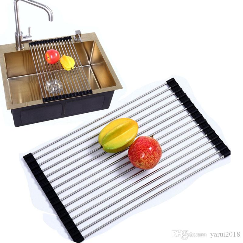 2018 Wholesale Kitchen Sink Drying Rack 201/304 Stainless Steel ...