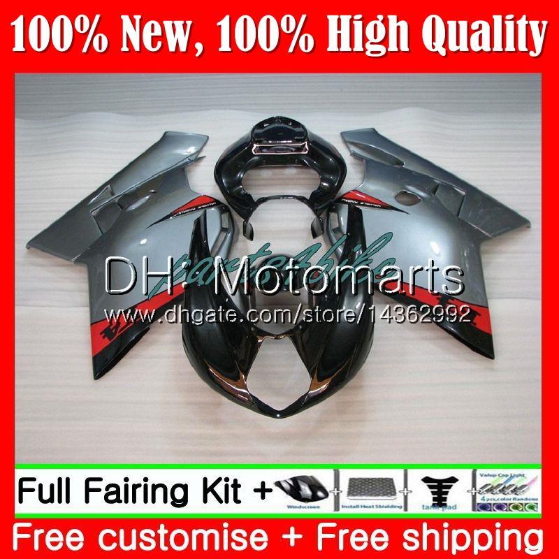 Silvery black Body For MV Agusta F4 05 06 R312 750S 1000 R 750 1000CC 13MT1 1000R 312 1078 1+1 MA MV F4 2005 2006 05 06 Fairing Bodywork
