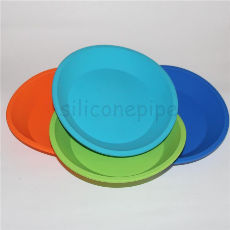 "Hot Sale silicone tray Deep Dish Round Pan 8"" friendly Non Stick Silicone Container Concentrate Oil BHO fda silicone ashtray"