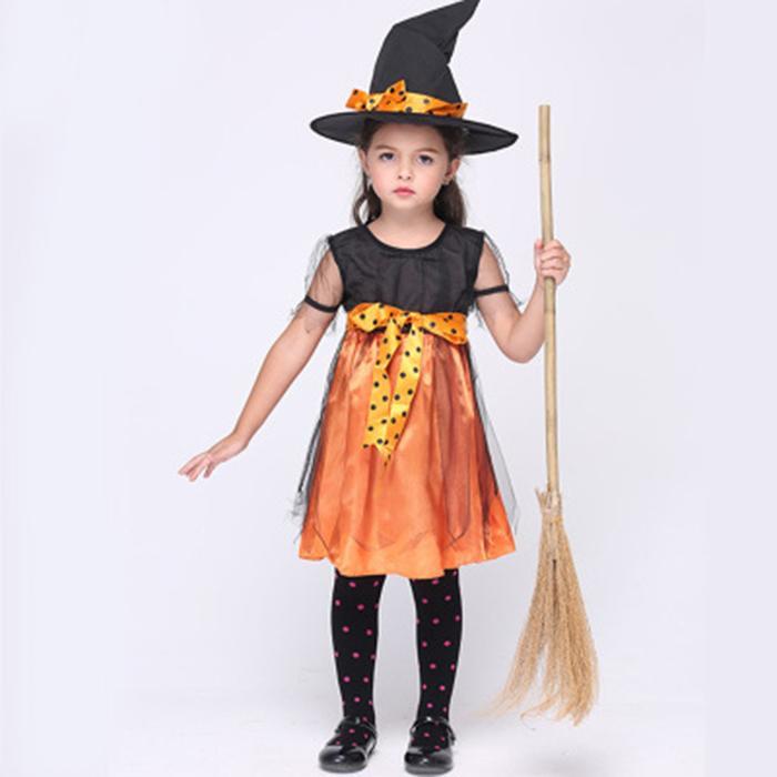 1e82e782e2 Acquista Spot Costume Di Halloween Bambini Abito Di Zucca Bambini Carino  Vestito Da Zucche In Stile Principessa Con Zucche In Maschera A $18.86 Dal  Juyao02 ...
