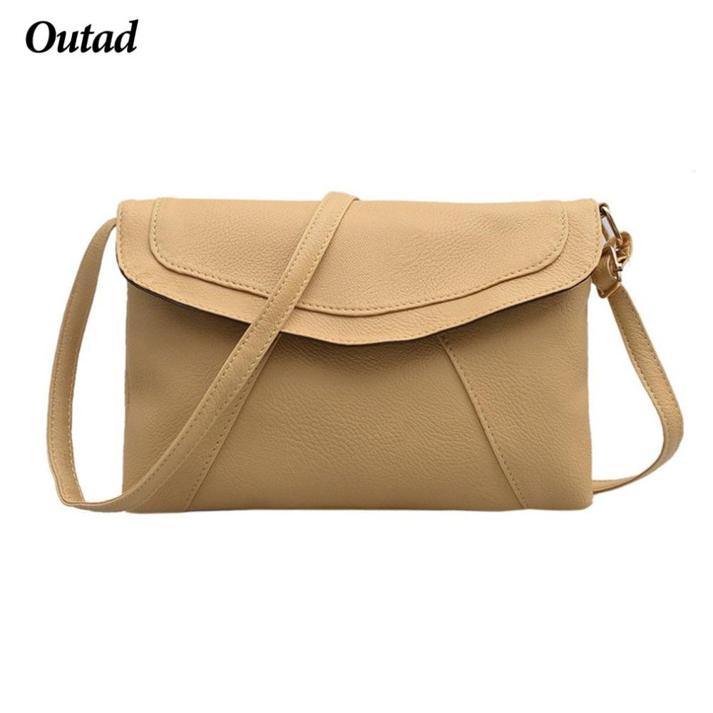 OUTAD PU Leather Women Envelope Messenger Bags Slim Cross Body Shoulder  Bags Small Satchel Ladies Purses Can Choose Flat Wallet Cowboy Wallets From  ... 187692c473197