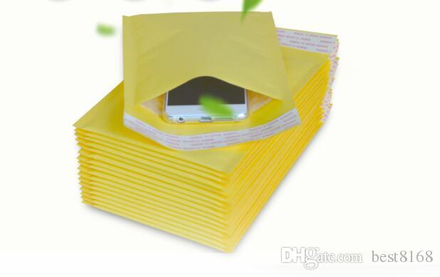 5.1 * 6.6inch 130 * 170mm + 40mm كرافت فقاعة بريدية مغلفات حقائب مبطنة مغلف بريد التعبئة الحقيبة لآيفون X 8 7 S9 حالة الهاتف المحمول
