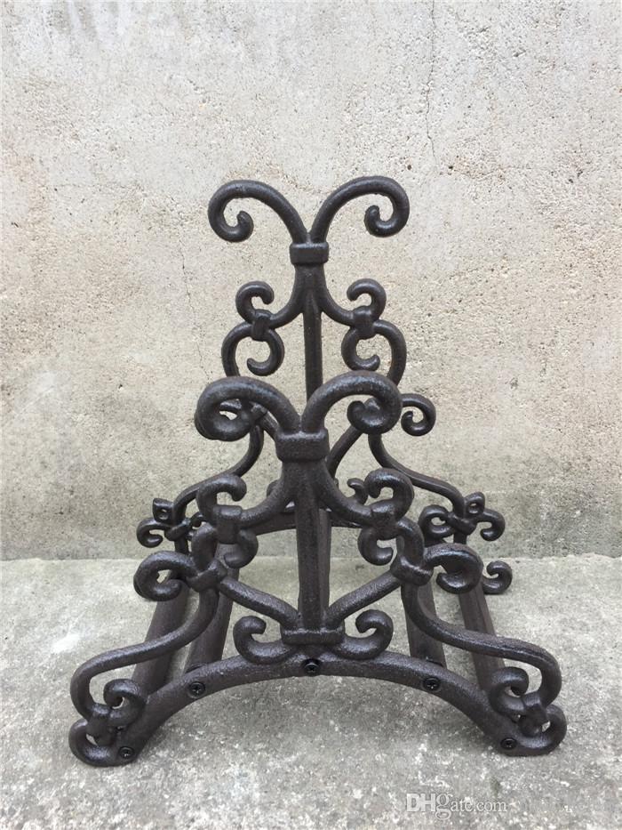 2018 Wrought Iron Hose Rack Holder Scrowl Outdoor Garden Decorative Hose  Reel Hanger Cast Iron Antique Rust Wall Mount Decor Craft From Haolyhelen,  ...