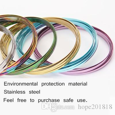 Colorful Metal Toroflux Flow Ring Rainbow Flow Rings Magic Bracelets Flowrings Holographic by While Moving Decompression Toys CCA9357