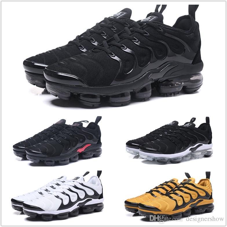 cheap authentic outlet 2018 New Vapormax Plus TN Multi-Color Running Shoes for Men Breathable Casual Shoes Hight QUlaity Sneakers Triple Black White Mens Shoes authentic sale online vbpd0P