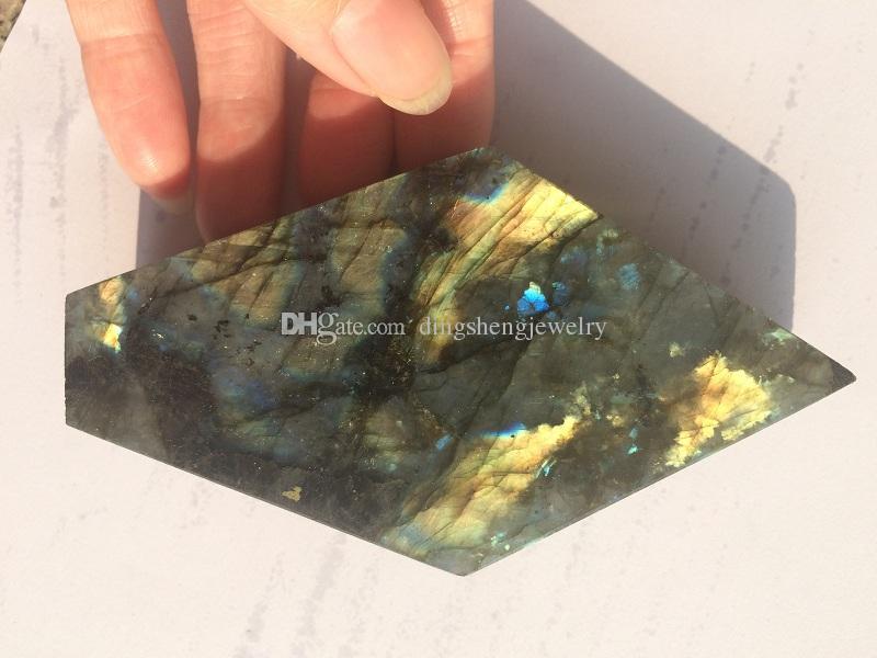 DingSheng Labradorite 흡연 파이프 천연 대형 크리스탈 석영 스톤 지팡이 시가 파이프 금속 필터 건강 흡연에 대한