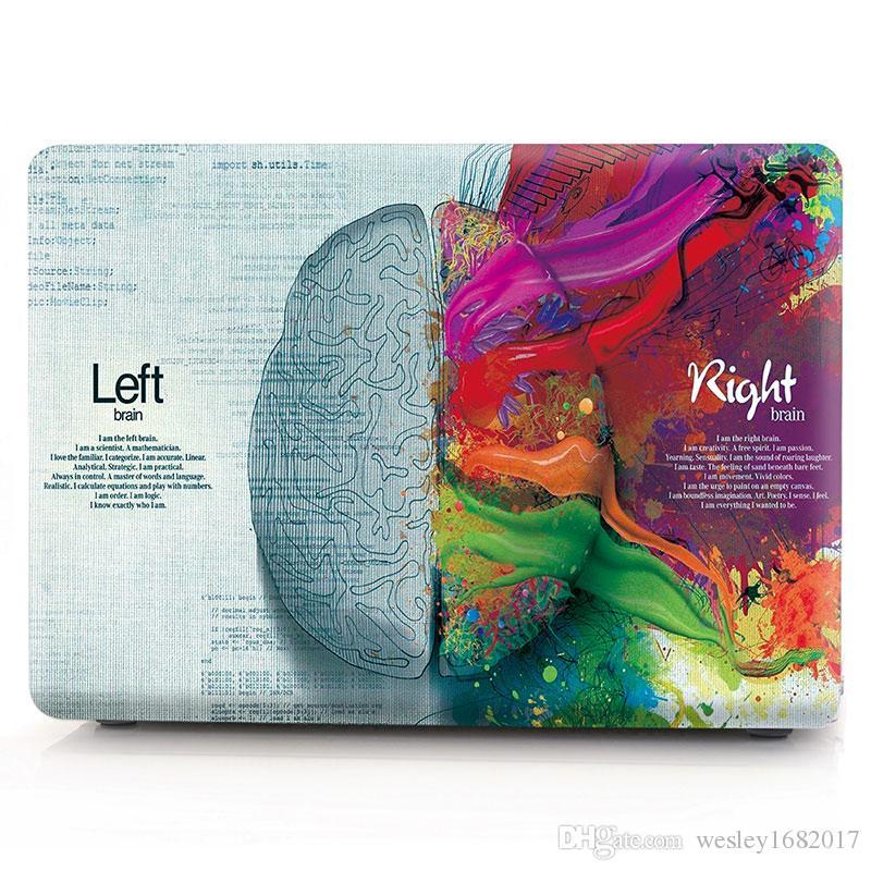 Macbook Air Funda de 13 pulgadas, Creative Brain Funda protectora de plástico para Macbook 12