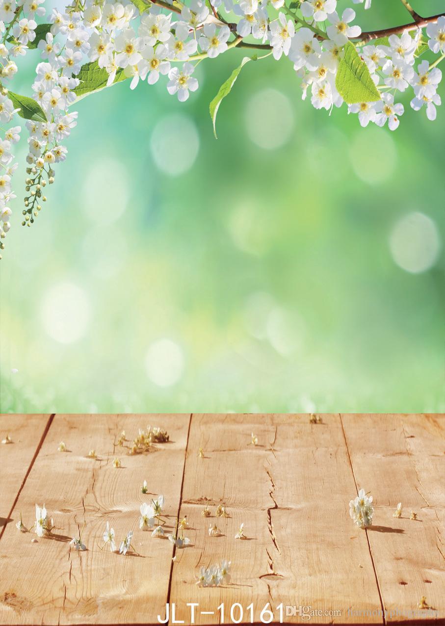 Acquista Fondali Fotografia Di Primavera Sfondo Bianco Fiore Foglie