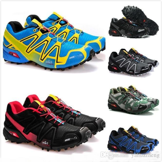 2018 New arrive Zapatillas Speedcross 3 Running Shoes Walking Outdoor Speed cross Sport Sneakers iii Athletic Hiking Size 46