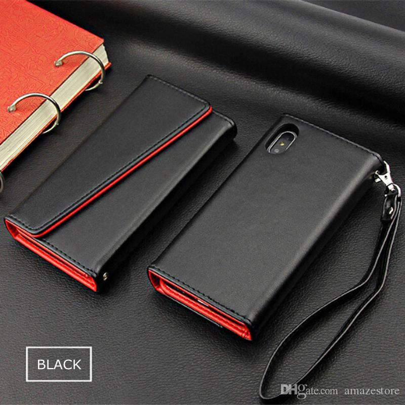 size 40 6a0be 35821 Premium Leather Wallet Cases For iPhone X 8 7 6 Plus Detachable Magnetic  Snap-on With Card Slot Flip Case Cover