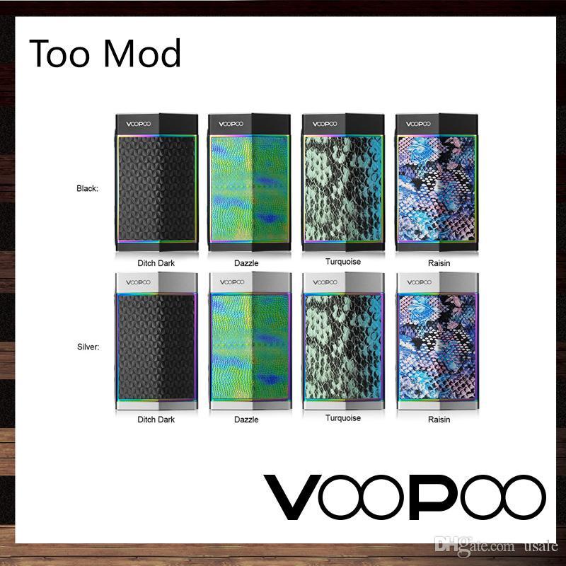 VooPoo Çok 180 W TX Kutusu Mod GENE Çip Ile 10 Milisaniye Ateşleme Hızı Anahtarı Tek / Çift Piller Keskin Hatları Şık Tasarım 100% Orijinal