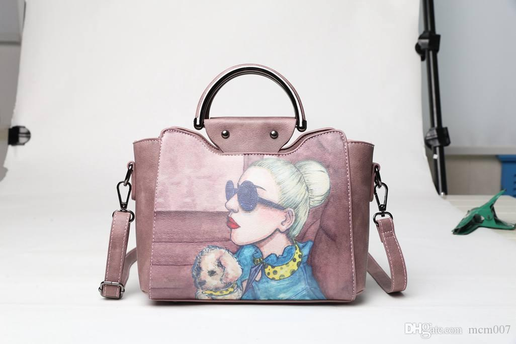 b846380e5fde 2018 New Bag Female Korean Version Of The Stereotyped Sweet Fashion  Handbags Messenger Messenger Shoulder Bag Messenger Bags For Men Hobo Bags  From Mcm007