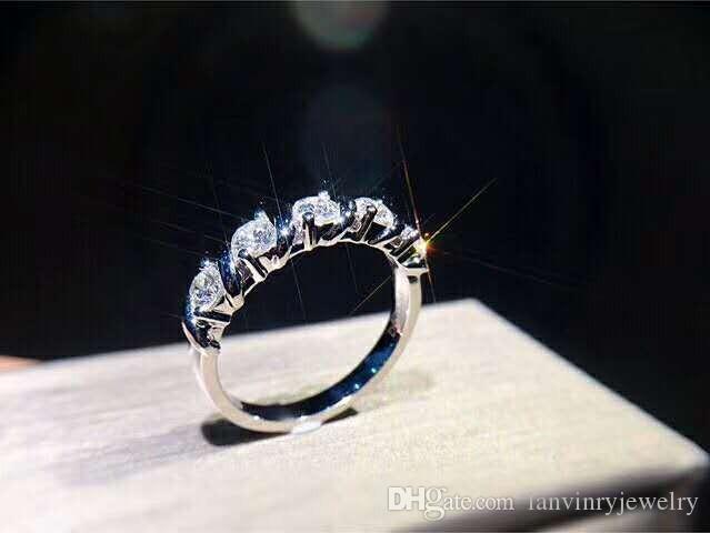 Nagelneuer Verlobungsring des Sterlingsilbers 925 der feinen Schmucksachen mit Kubikzirconia für die Frauen, die hohes Poliergeschenk wedding sind, geben Verschiffen frei