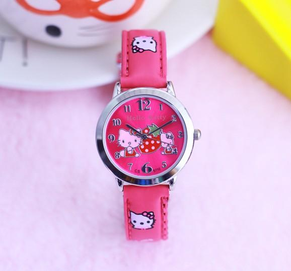 d85a2a9d6 Cute Hello Kitty Watches Girl Lovely Cartoon Watch Kids Children Watches  Leather Quartz Watch Baby Clock Gift Hour Montre Enfant Cheap Branded  Watches Buy ...