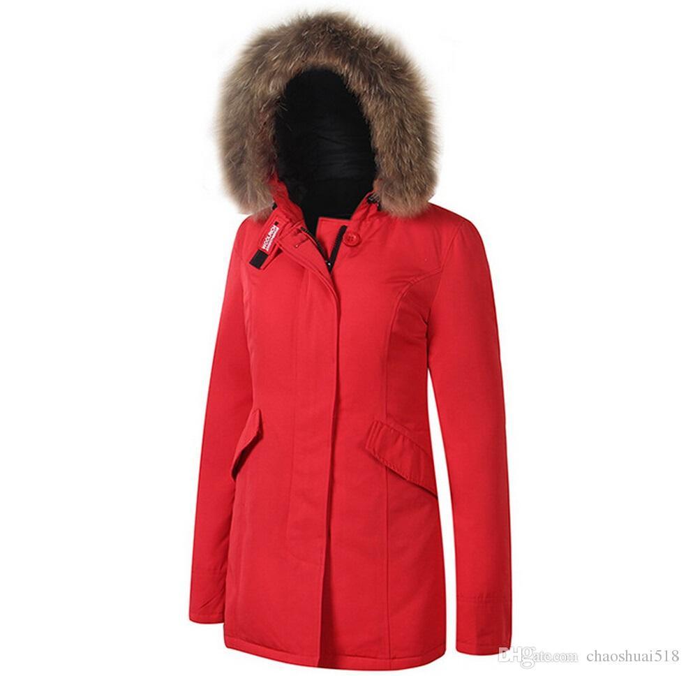 premium selection d99cd d0329 Moda Woolrich Donna Arctic Anorak Piumino Donna Piumino invernale 90%  Outdoor Parka pesante Cappotto Donna caldo outwear giacche